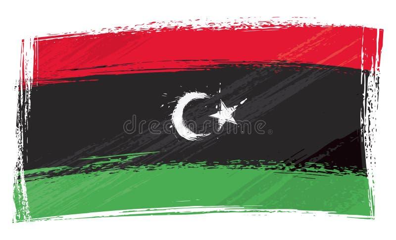 难看的东西绘了利比亚旗子 皇族释放例证