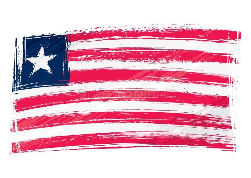 难看的东西绘了利比里亚旗子 向量例证