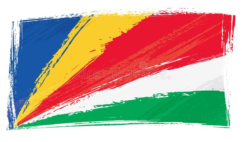难看的东西绘了塞舌尔旗子 皇族释放例证