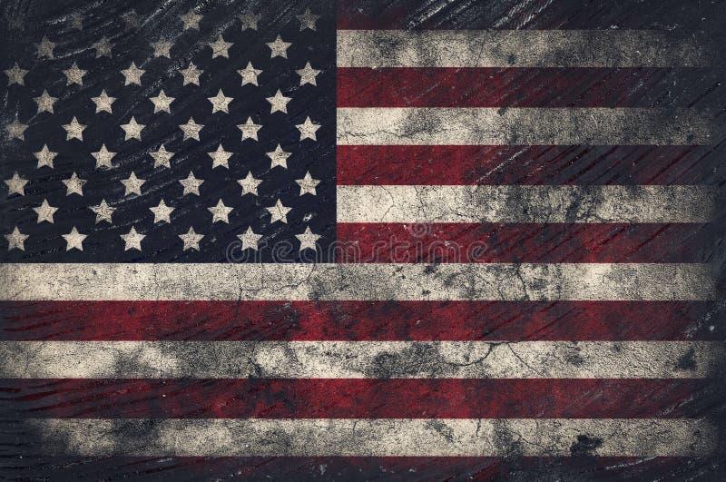 难看的东西美国旗子 库存例证