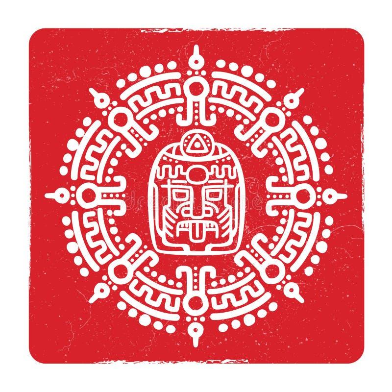 难看的东西美国阿兹台克人,玛雅文化标志设计 皇族释放例证