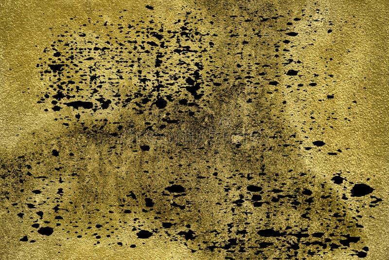 难看的东西肮脏的超黄色具体水泥纹理,石表面,岩石背景 免版税库存照片
