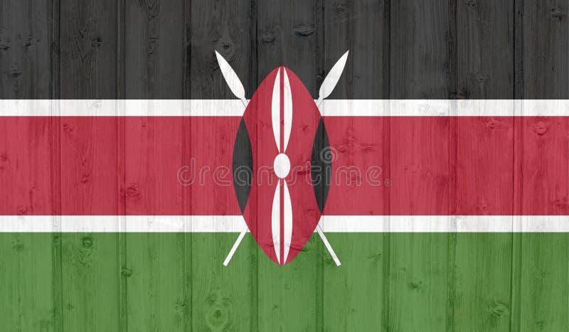 难看的东西肯尼亚旗子 向量例证