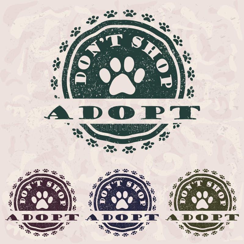 adopt不购物 库存例证