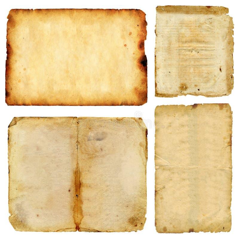 难看的东西葡萄酒老纸张页  免版税库存图片