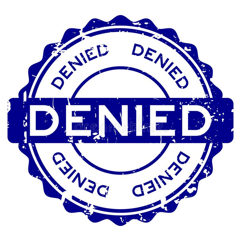 难看的东西蓝色否认措辞围绕在白色背景的橡胶封印邮票 皇族释放例证