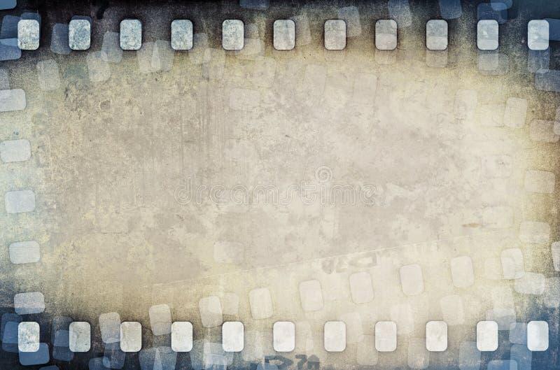 难看的东西被抓的影片小条背景 库存例证