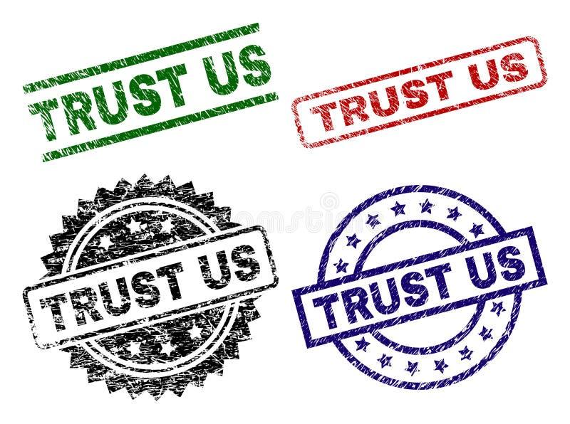 难看的东西被构造的信任美国封印邮票 向量例证