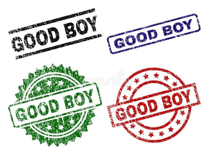 难看的东西被构造的好男孩邮票封印 皇族释放例证