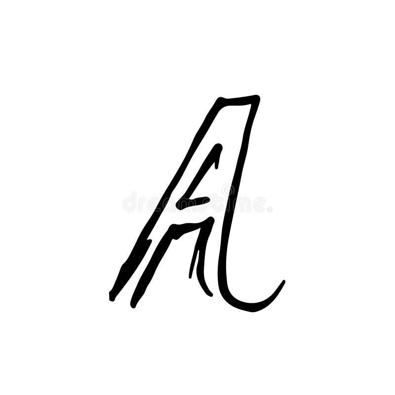 难看的东西轮胎信件A 独特路隔绝了在一种黑颜色的字法 也corel凹道例证向量 皇族释放例证
