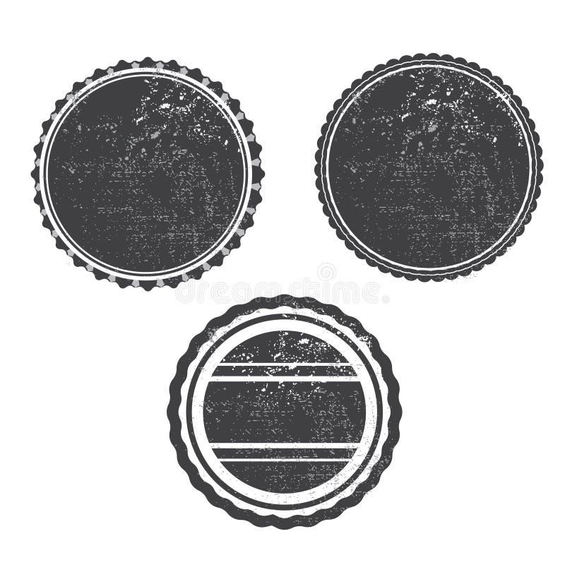 难看的东西邮票黑色与纹理的templeta传染媒介 向量例证