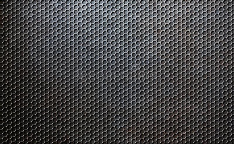 难看的东西金属梳子栅格背景 免版税库存照片
