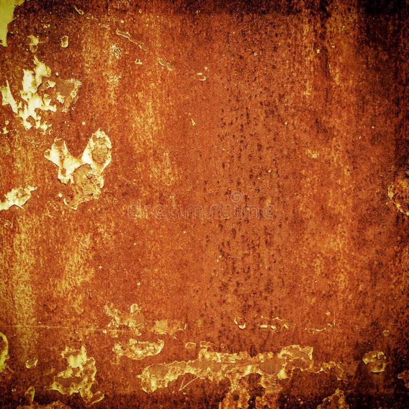 难看的东西金属铁锈和橙色纹理万圣夜背景的 免版税库存照片