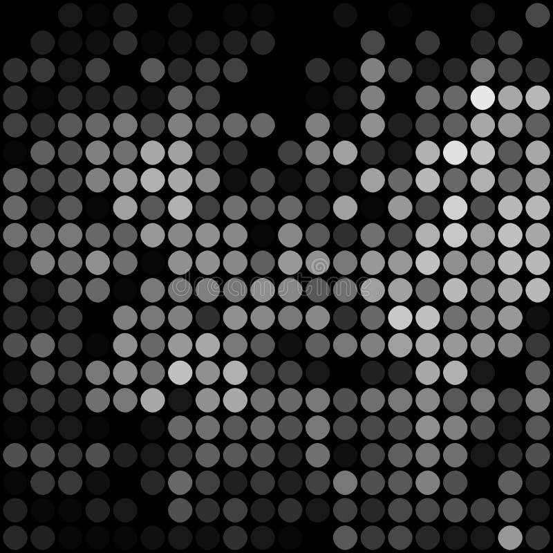 难看的东西金属马赛克darc背景 黑灰色钢栅格纹理 库存例证