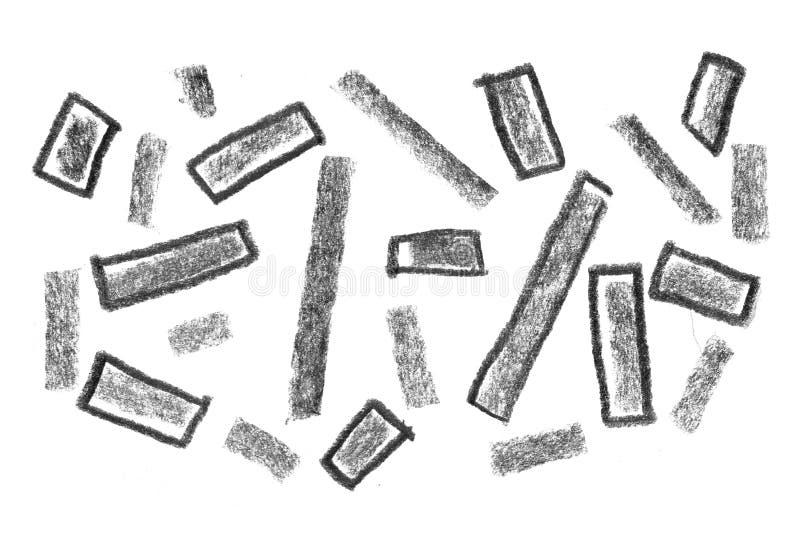 难看的东西铅笔纹理 抽象铅笔结构背景 概略的抽象纹理 库存例证