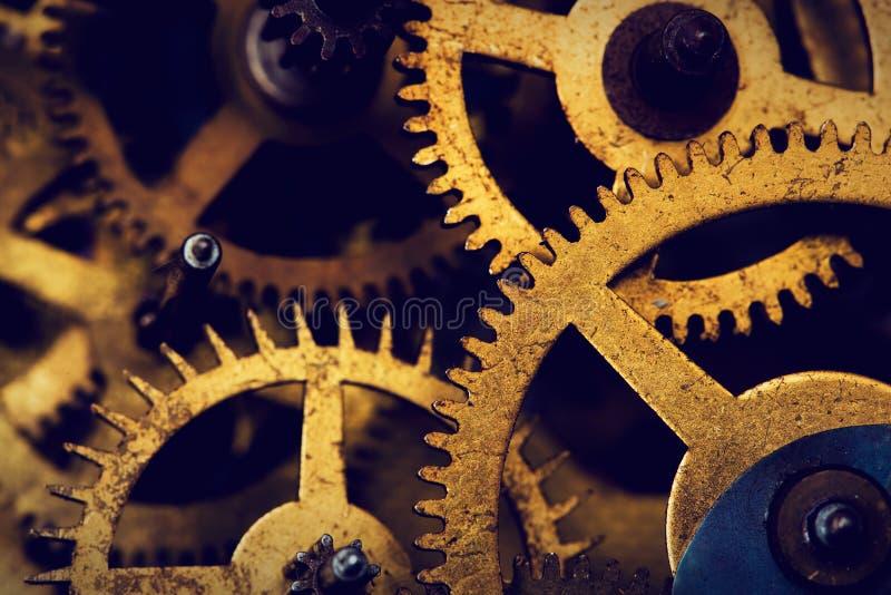 难看的东西齿轮,嵌齿轮转动背景 工业科学 库存照片