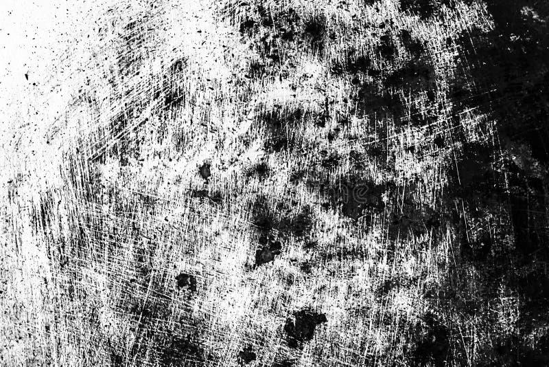 难看的东西黑白困厄纹理 抓痕和纹理或者 库存图片