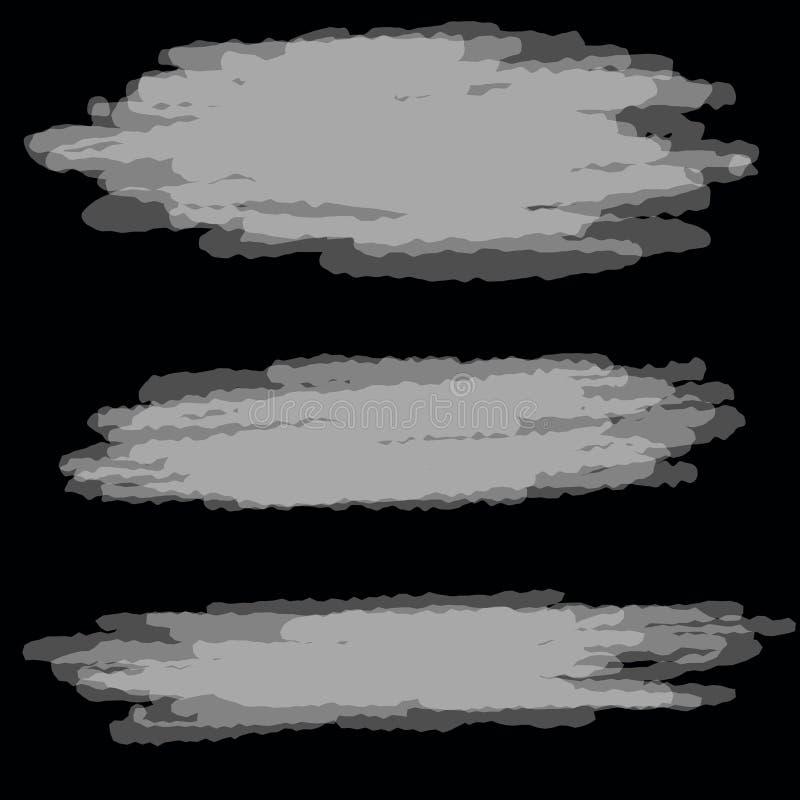 难看的东西黑背景努瓦尔样式 向量例证