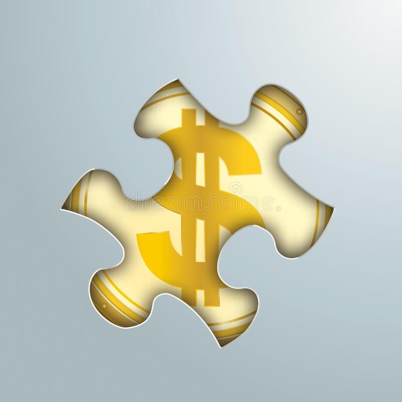 难题孔金黄美元硬币 向量例证