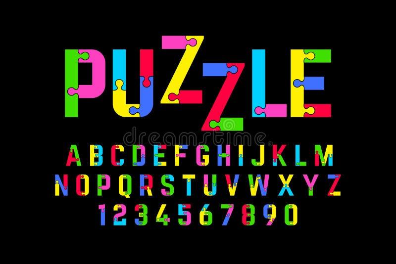 难题字体 库存例证