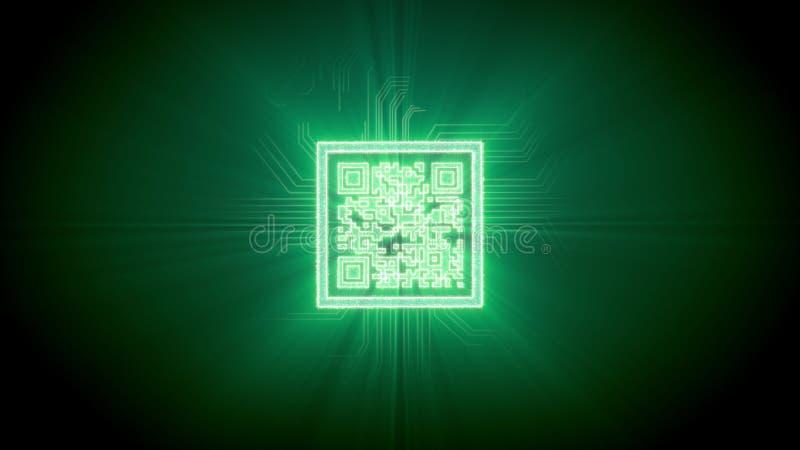 难题形状的qr代码真正介绍 向量例证