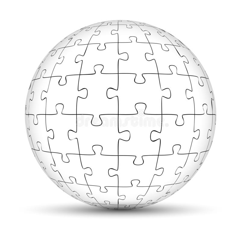 难题球 向量例证