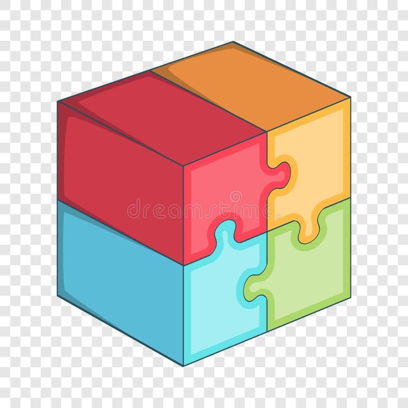 难题立方体象,动画片样式 库存例证