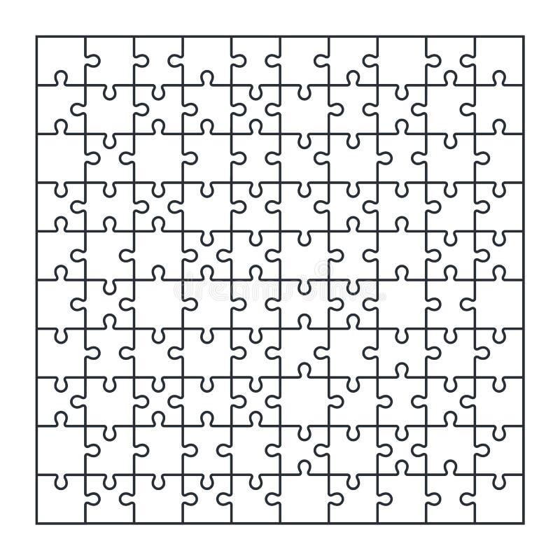 难题竖锯套在传染媒介的100个片断 向量例证