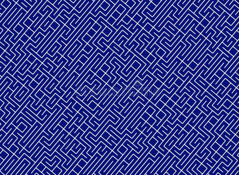 难题迷宫 排行道路样式 库存例证