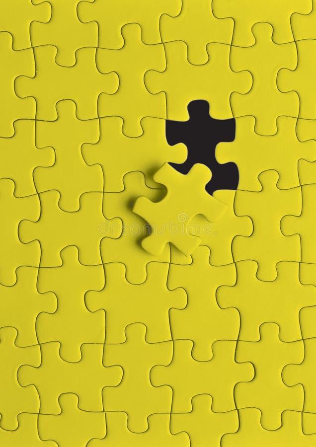 难题黄色 免版税库存图片