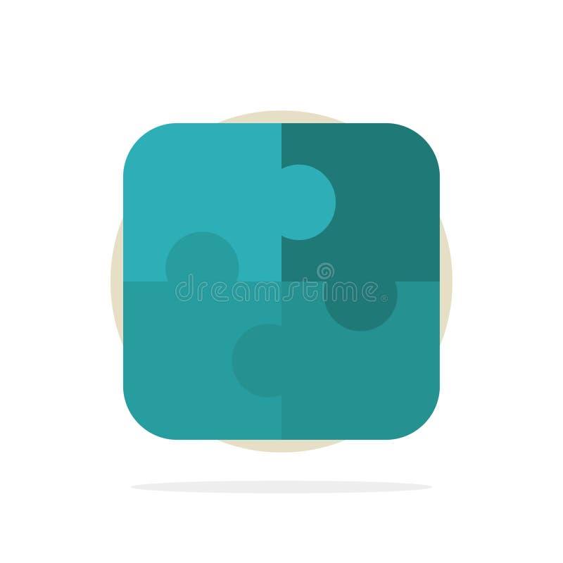 难题,零件,战略,配合抽象圈子背景平的颜色象 库存例证