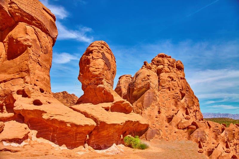 难以置信地美好的风景在南内华达,火国家公园,美国谷  免版税库存照片