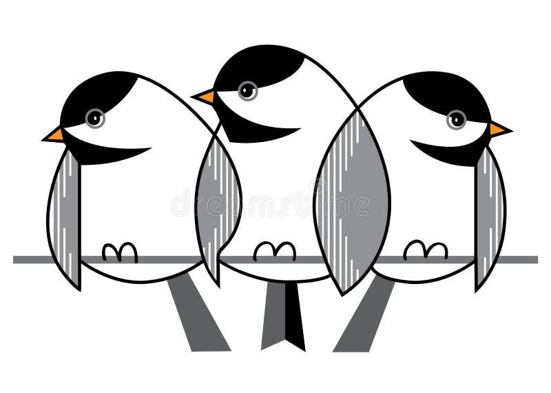 麻雀在冬天 皇族释放例证