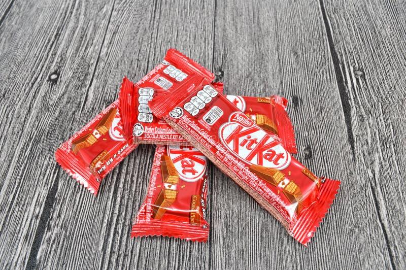 雀巢成套工具kat巧克力块 库存照片