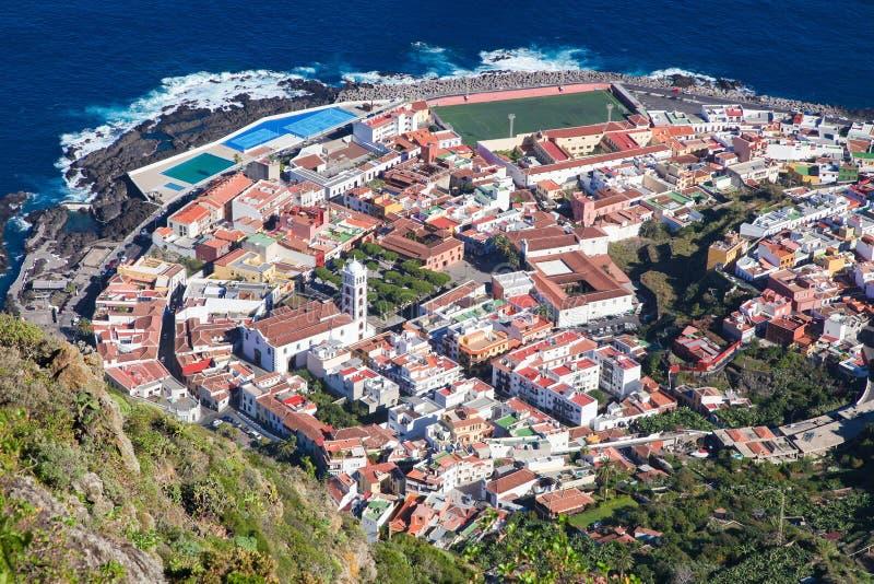 黄雀色garachico海岛西班牙tenerife 免版税库存图片