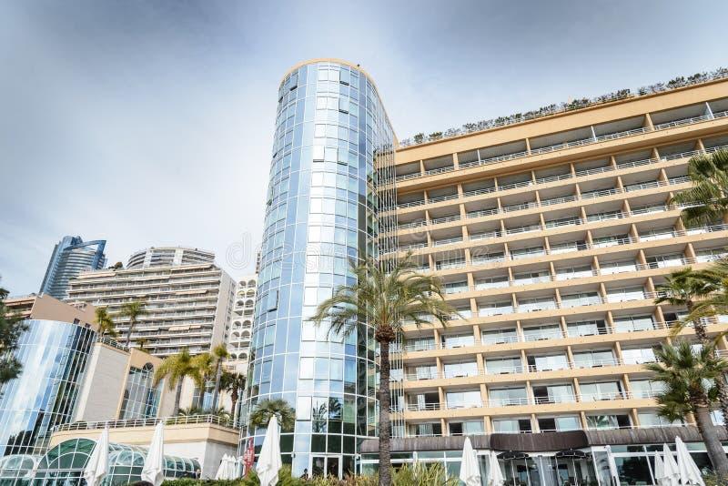 雄伟住宅公寓,蒙特卡洛,摩纳哥 免版税库存图片