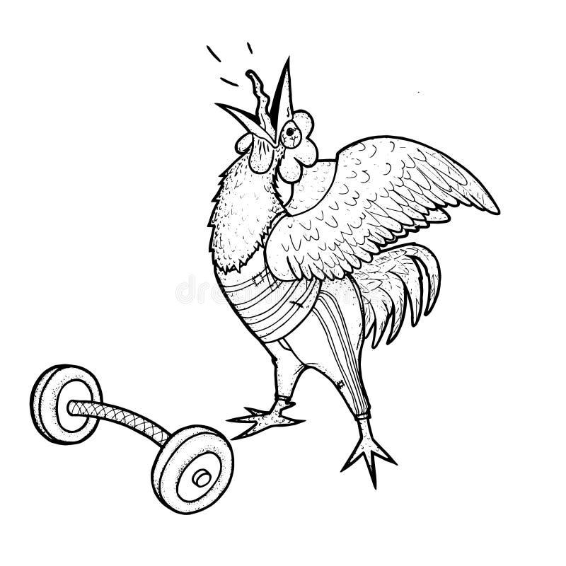 雄鸡运动员 免版税库存照片