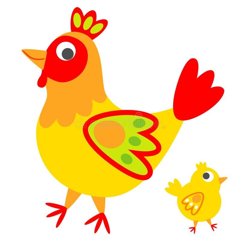 雄鸡 向量例证