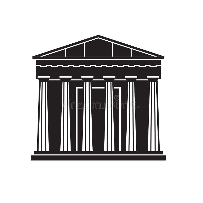 雅典万神殿象 库存例证