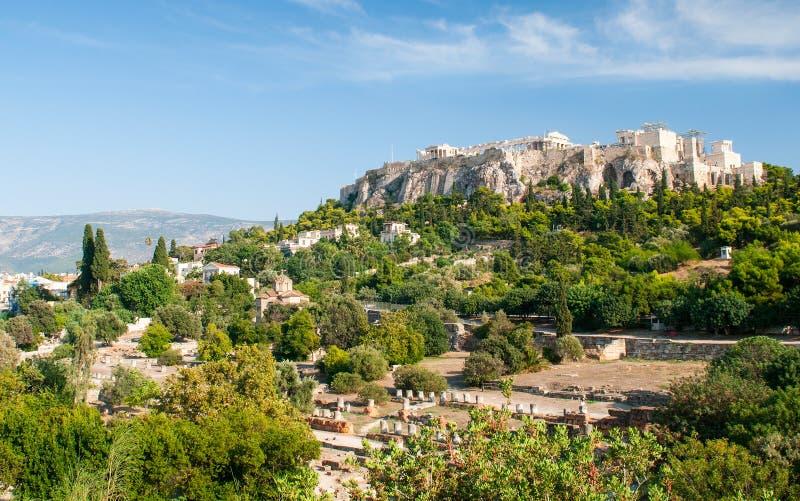 雅典上城小山 库存照片