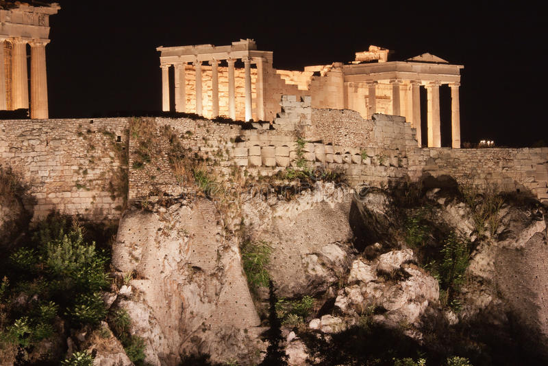 雅典上城 免版税图库摄影