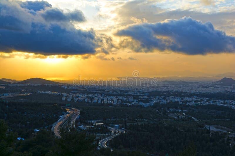 雅典全景 库存照片