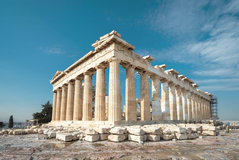 雅典卫城的,希腊帕台农神庙 免版税库存图片