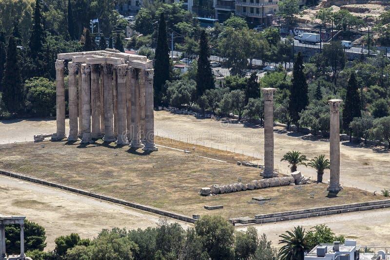 雅典奥林山寺庙宙斯 库存照片
