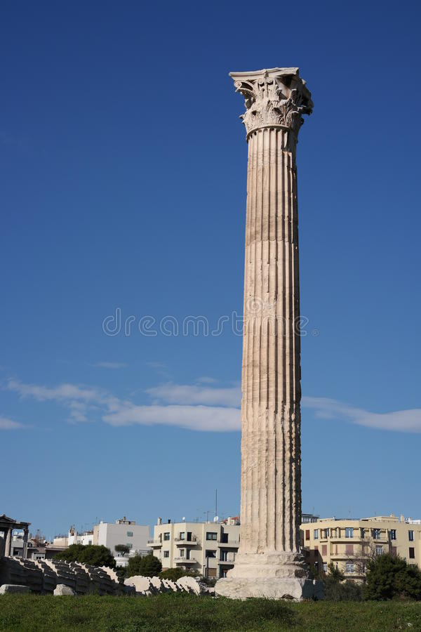 雅典奥林山寺庙宙斯 图库摄影