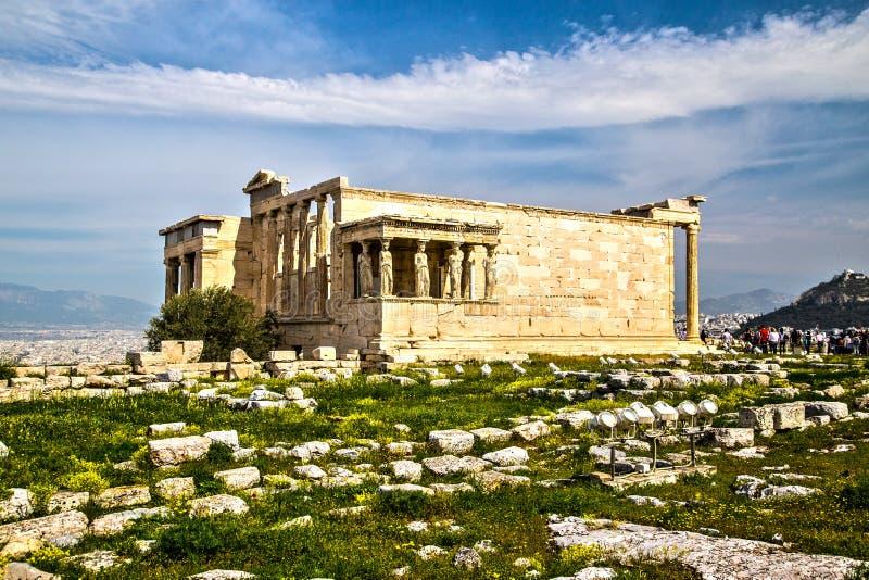 雅典娜古庙在雅典 免版税库存图片