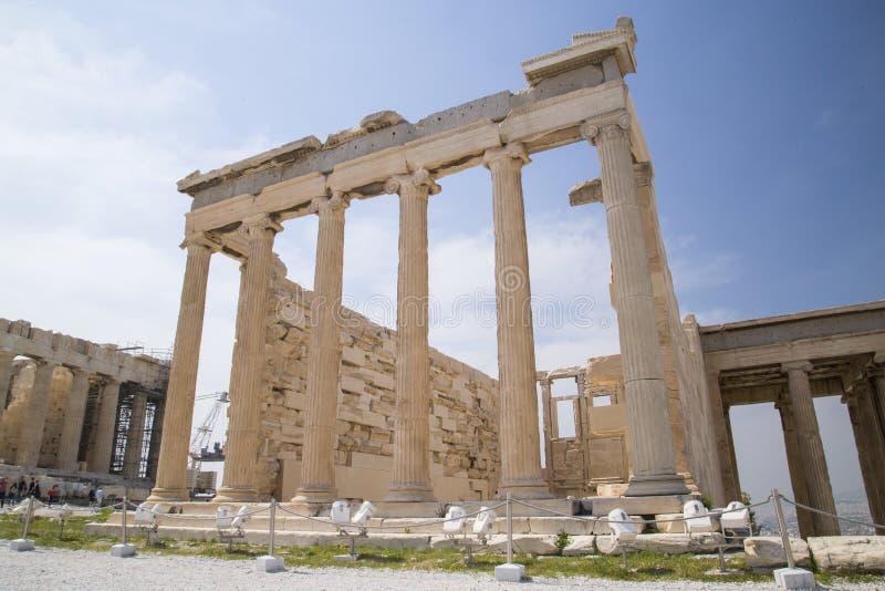 雅典娜古庙在雅典 免版税图库摄影