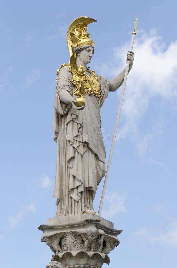 雅典娜奥地利前pallas议会 免版税库存照片