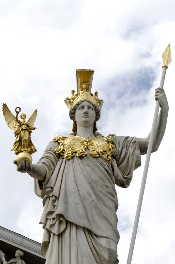 雅典娜奥地利前pallas议会 免版税图库摄影