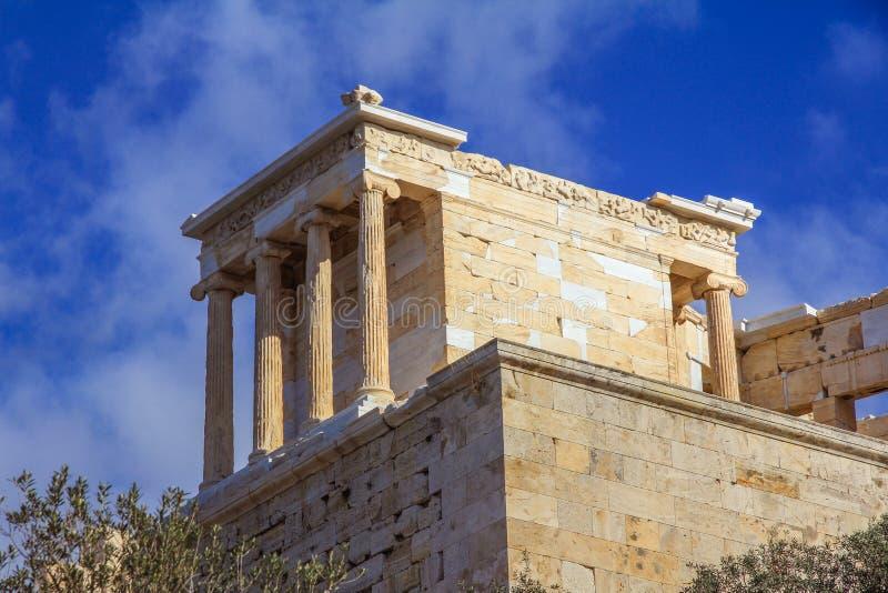 雅典娜耐克寺庙 免版税图库摄影